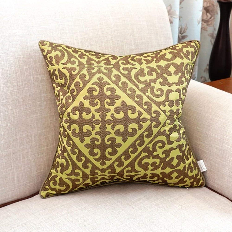 ahorrar en el despacho MWPO Funda de Almohada Decorativa Cojines Bordados Europeos en la la la cabecera del sofá Funda de Almohada con Cremallera Invisible, rellena con una C Completa de 60x60cm (24x24 Pulgadas) Versión B  punto de venta