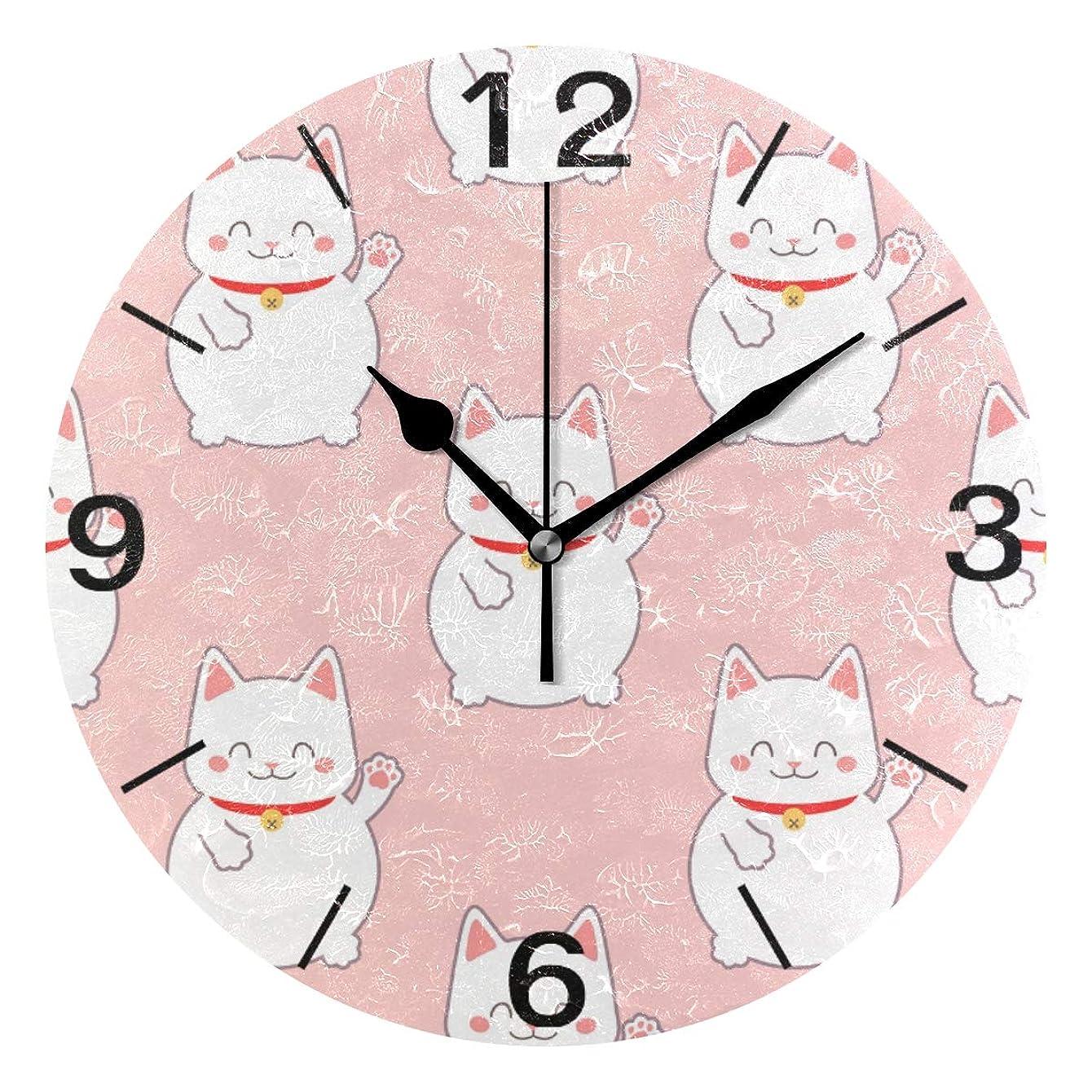 湿気の多い避難ソーダ水掛け時計 置き時計 壁掛け時計 時計 壁掛け 招き猫 可愛い 連続秒針 リビング おしゃれ 北欧 部屋装飾 部屋飾り プレゼント ギフト 贈り物