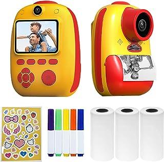 Daseey D10 Instant Camera Photo Printer 1080P HD Mini Digital Camera for Kids with LED Fill-in Light Print Paper Cartoon S...
