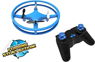 Mindscope Sky Lighter Disc Drone Blue Light Up LED Glow Stunt Action Radio Control RC Technology