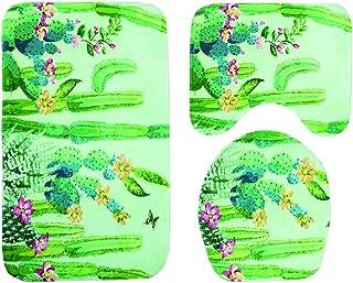 OUNONA 3 piezas, antideslizante Alfombrilla de ba/ño para inodoro dise/ño de guijarros