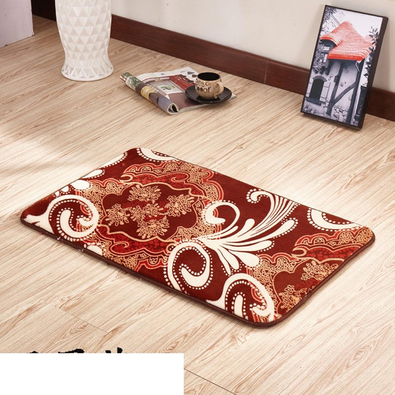Thickened Household Door mats Bedroom Indoor mats Bathroom pratunam pad Kitchen Floor mats-A 100x200cm(39x79inch)