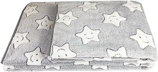 DANCE YOU Prima - Manta de franela de forro polar supersuave para perro, cálida, para perros pequeños, medianos y grandes, color gris claro 75 x 100 cm/150 x 100 cm