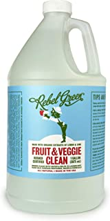 Rebel Green Fruit and Veggie Wash, Natural Fruit and Vegetable Produce Cleaner, 1 Gallon Refill