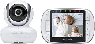 Motorola MBP36S Remote Wireless Video Baby Monitor with 3.5-Inch Color LCD Screen Remote Camera Pan Tilt and Zoom