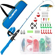 Kids Fishing Pole,Telescopic Fishing Rod and Reel Combos with Spincast Fishing Reel and String...