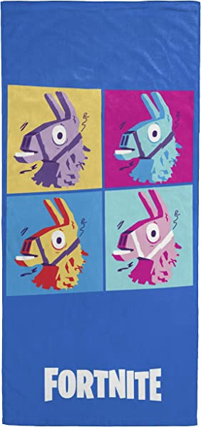 Jay Franco Fortnite Llama Warhol Kids Bath Pool Beach Towel Super Soft Absorbent Fade Resistant Cotton Towel Measures 28 Inch X 58 Inch Official Fornite Product