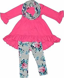 Girls 3 Piece Spring Colors Floral Legging Set