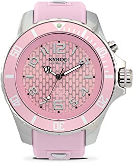 KYBOE! Quartz Stainless Steel and Silicone Watch (Model: Silver Dusk)