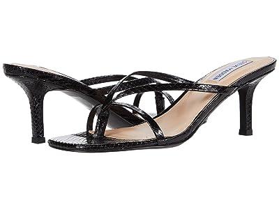 Steve Madden Lolla Heeled Sandal (Black Snake) Women