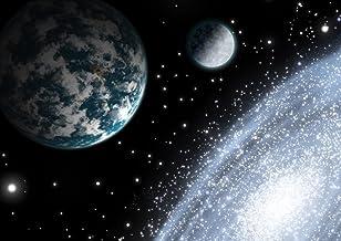 لوحة جدارية كاملة من JP London MDXL91045P مطبوع عليها صورة قمر الأرض غير منسوجة، بعرض 30.48 سم وارتفاع 8.5 سم