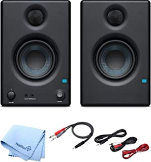 """PreSonus Pair of Eris E3.5 3.5"""" 2-Way 25W Nearfield Monitors with and Pro Cable Kit"""