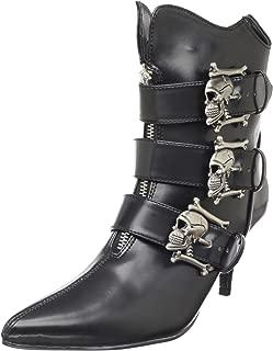 Demonia Women's Fury-06 Ankle Boot Black