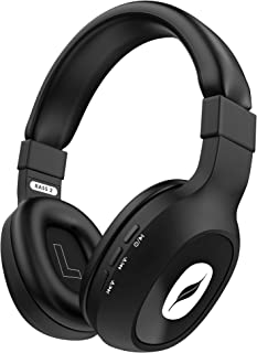 Leaf Bass 2 Wireless Bluetooth Headphones with Mic and 15 Hours Battery Life, Over-Ear Headphones with Super Soft Cushions...