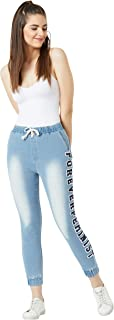Miss Chase Women's Stretchable Denim Joggers