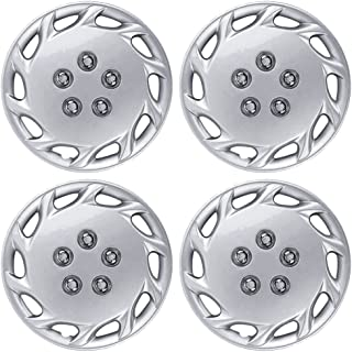 BDK KT-877-14_AMZKING Silver Hubcaps Wheel Covers for Toyota Corolla (14 inch) – Four (4) Pieces Corrosion-Free & Sturdy – Full Heat & Impact Resistant Grade – Replacement