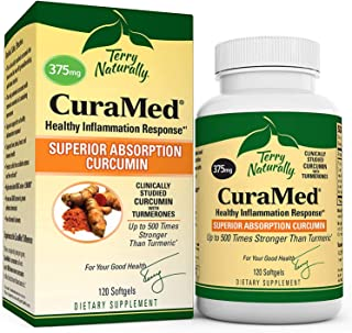 Terry Naturally CuraMed 375 mg - 120 Softgels - Superior Absorption BCM-95 Curcumin Supplement, Promotes Healthy Inflammat...