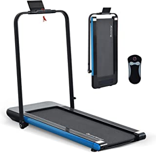 LINKLIFE Willy 2 in 1 Folding Treadmill, 2.25 HP Smart Walking Running Machine with Bluetooth Audio Speakers, Installation...