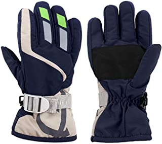 LuvnFun Kids Snow Gloves for Cold Weather Thinsulate Cotton Warm Waterproof Ski Winter Gloves for Boys and Girls