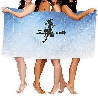Shenigon Bath Towel Witch Broom Customize Soft Large Swim Beach Towels