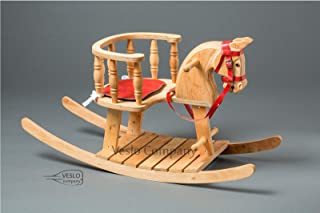 Christmas Rocking Horse - Bright Flash - Ride on wooden horse - Classic English Rocking Horse - Royal Toy - Best Gift for Baby