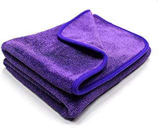 Maxshine 1200GSM Microfiber Duo Twisted Drying Towel for Car Detailing, Purple, 24in. x 35in./60x90cm