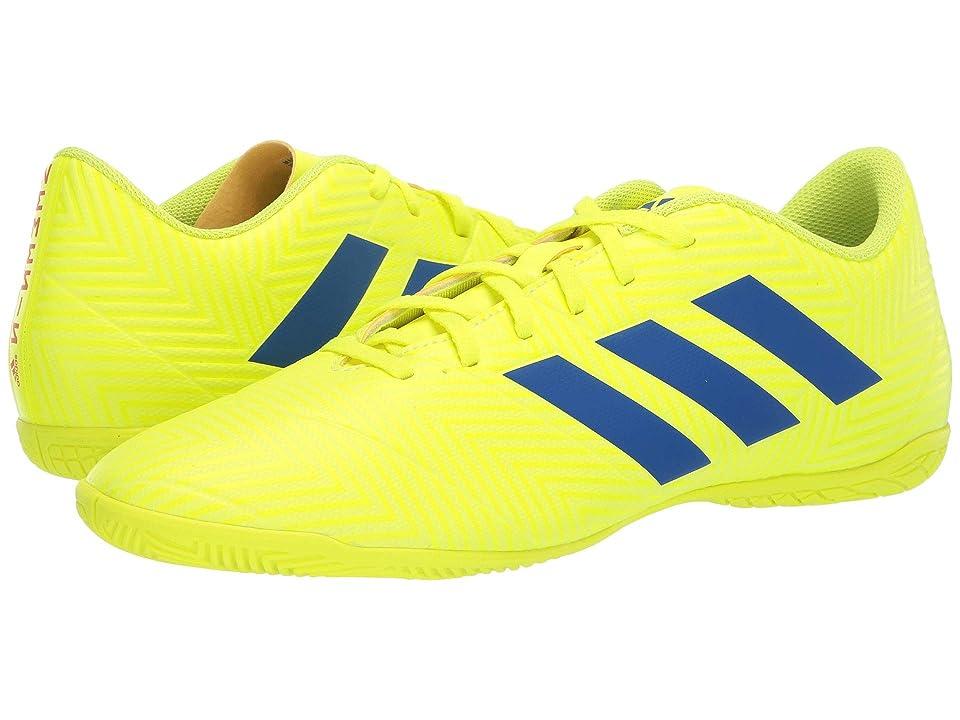 adidas Nemeziz 18.4 IN (Solar Yellow/Football Blue/Active Red) Men's Soccer Shoes