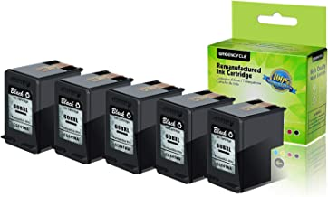 GREENCYCLE 5 PK Remanufactured 60XL 60 XL Black Ink Cartridge CC641WN Compatible for HP Deskjet D2530 D2545 F2430 F4224 F4440 F4480 Envy 100 110 111 114 120 Photosmart C4640 C4650 C4680 C4780 C4795
