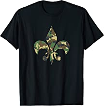 Fleur De Lis Camo New Orleans NOLA Style Vintage T-shirt