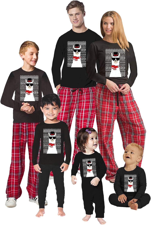 Awkward Styles Christmas Pajamas for Family Funny Xmas Llama Matching Christmas Sleepwear Men PJ Set Style 1 S
