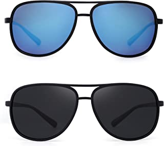 Retro Polarized Aviator Sunglasses Mirror Lightweight Eyeglasses for Men Women