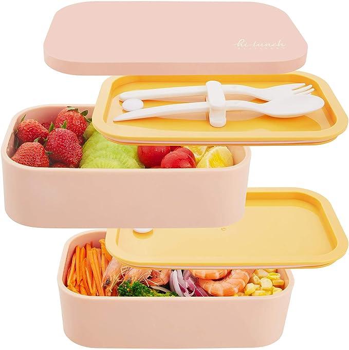 333 opinioni per Thousanday Lunch Box 1600ml   Scatole Bento con 2 Ermetico Scomparti & Posate  