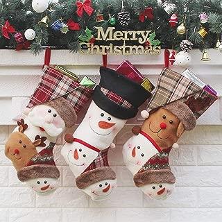 Christmas Decorative Items for Children Bags Decorated Christmas Socks Old Christmas Ornaments Gift Bags,Durability (Color : Three-Piece Suit, Size : 22 * 26 * 44cm)