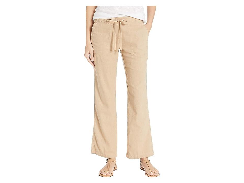 Per Se 31 Linen Drawstring Pants (Khaki) Women's Casual Pants