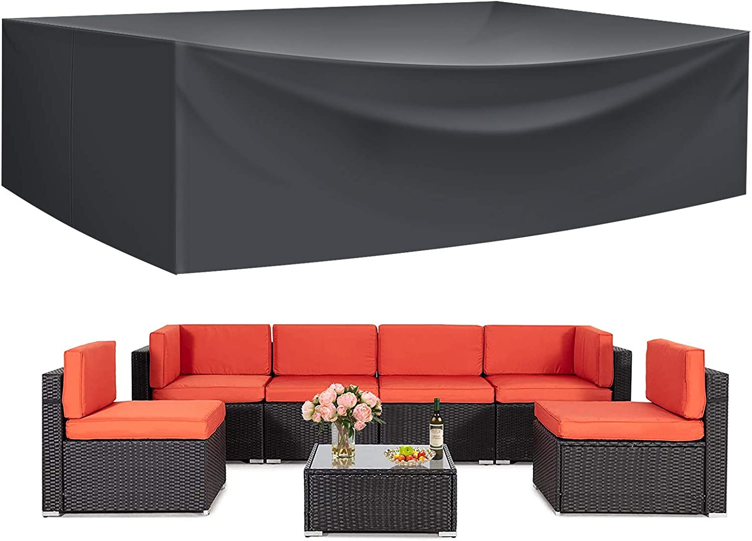 Patio Furniture Sectional Set Covers Outdoor security Fu Waterproof Popular overseas Large