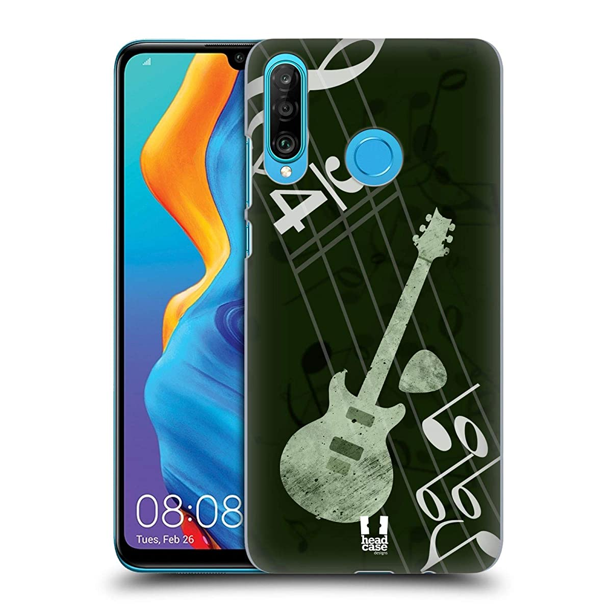 Head Case Designs Guitar Musika Hard Back Case Compatible for Huawei P30 Lite