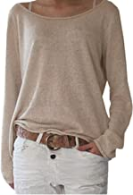 ZANZEA Women's Solid O Neck Long Sleeve T Shirt Casual Knit Tops Blouse Pullover