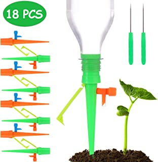 Hengwei Plant Waterer,Self Watering Spikes,Plant Watering Devices With Slow Release Control Valve Switch, Automatic Vacation Drip Watering Bulbs Globes Stakes System For Indoor & Outdoor Plants (18CS)