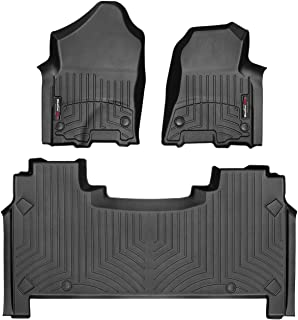 WeatherTech Custom Fit FloorLiner for Dodge Ram Truck 1500-1st & 2nd Row (Black)
