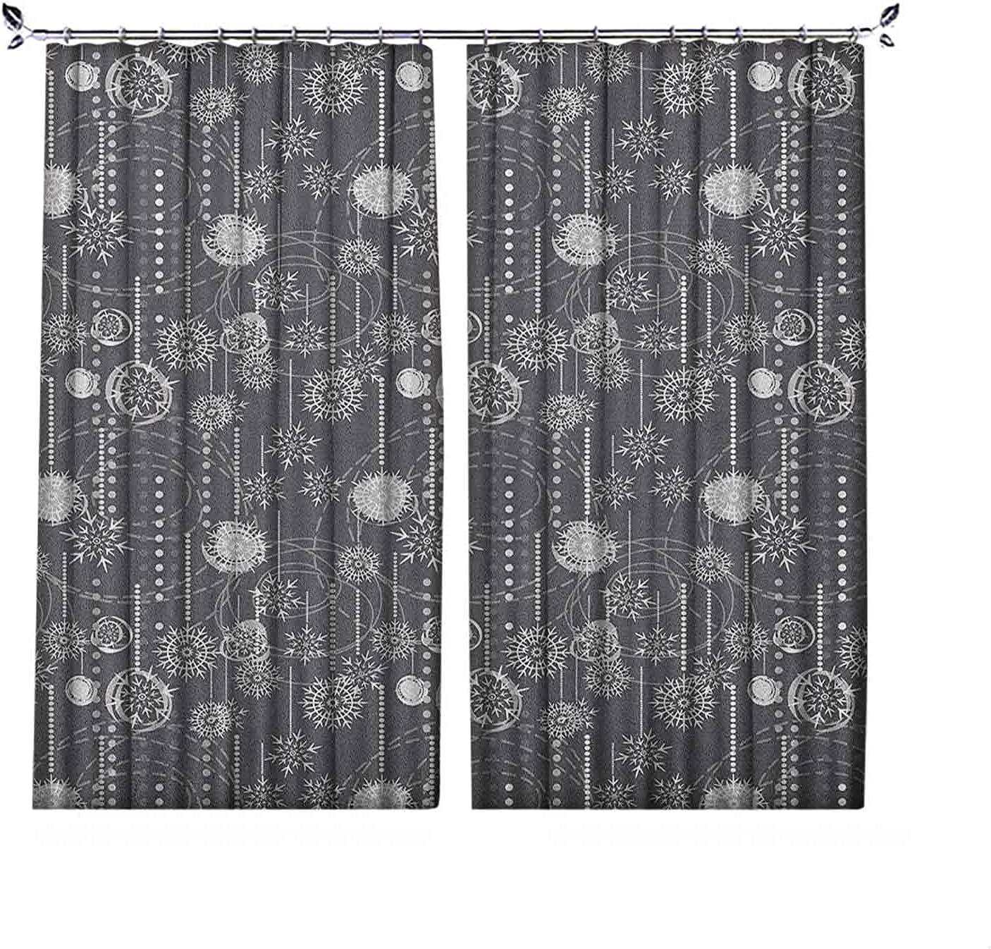 Pinch Pleat Textured Reservation List price Winter wit Monochrome Composition Curtains
