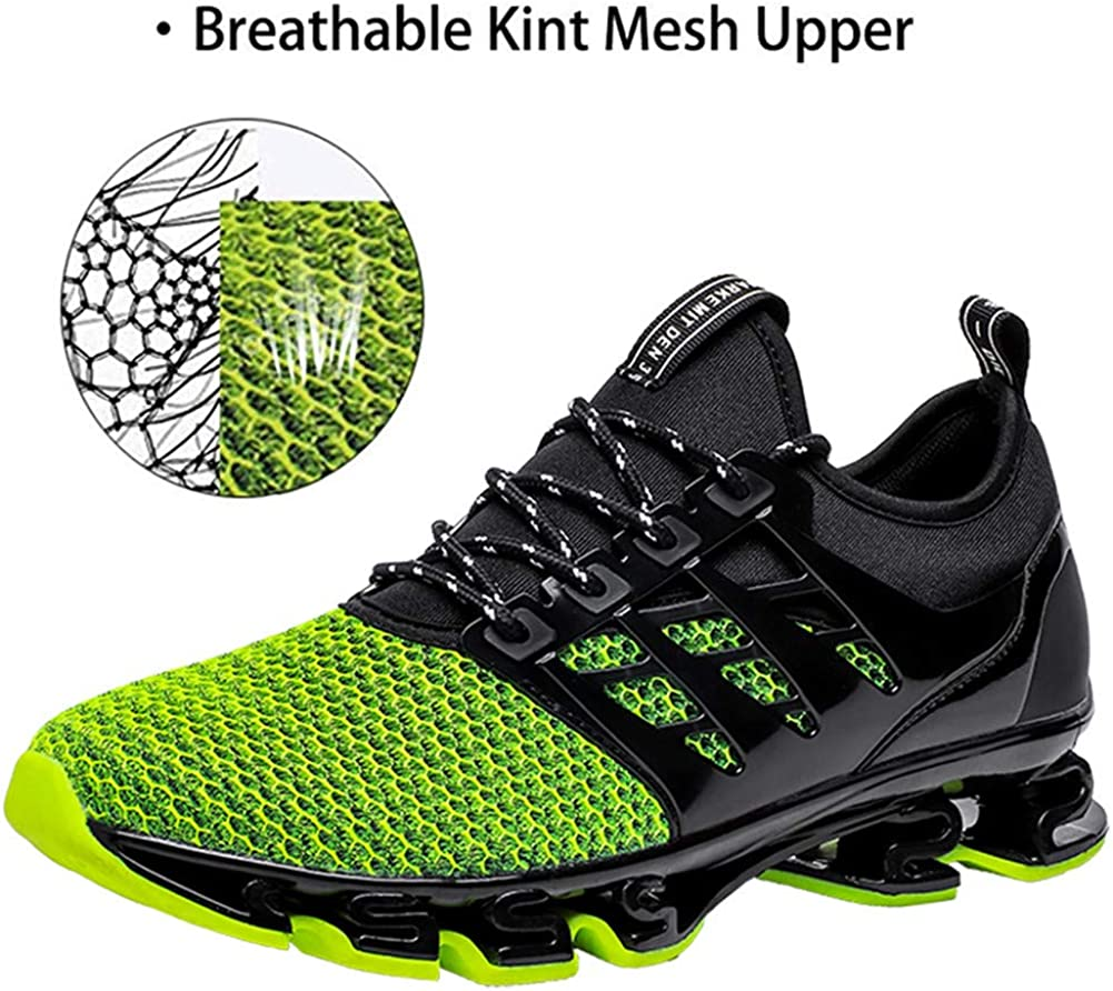 FOVSMO Mens Blade Sneakers Mesh Breathable Fashion Sports Casual Walking Running Shoes