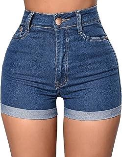 892c8466a14e5c Gemijacka Damen High Waist Shorts Hotpants Sommer Jeans Destroyed Optik