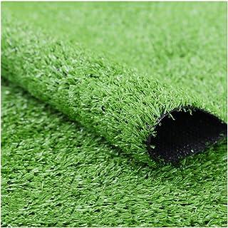 YNFNGX Indoor/outdoor Artificial Turf Grass 15mm Pile Height Simulation Green Grass Carpet Suitable For Garden Terrace Pet...