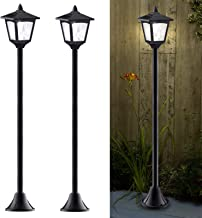 40 Inches Mini Solar Lamp Post Lights Outdoor, Solar Powered Vintage Street Lights for..