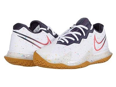 Nike NikeCourt Air Zoom Vapor Cage 4 (White/Laser Crimson/Gridiron/Wheat) Men