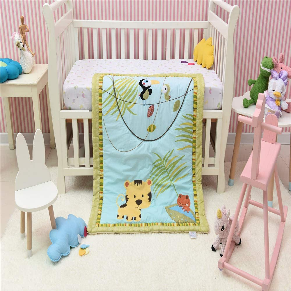 1 price PC Animal Crib Quilt Baby Girl Id Bed Gift Cover Large discharge sale Boy