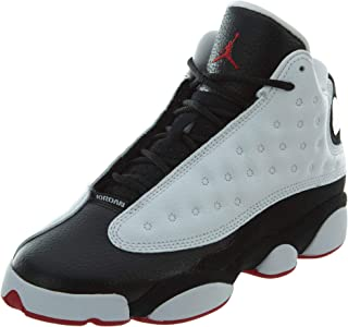 promo code e0074 e0aa4 Jordan Nike Air 13 Retro Kids BG He Got Game White Black True Red