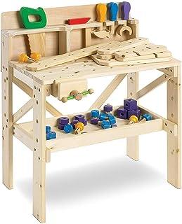 FAO Schwarz Solid Wood Toy Workbench with Tool Set (64 Piece Set)