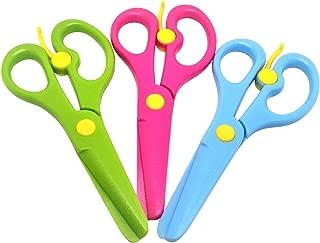 幼児用はじめてのはさみ 早い時期からハサミを使って脳に刺激を 3本(3色)セット 刃までプラスチックで安心安全