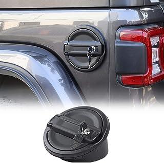 For Jeep JL Gas Cap Cover, Locking Fuel Door for 2018-2020 Jeep Wrangler JL & Unlimited Sport Rubicon Sahara 2-Door 4-Door